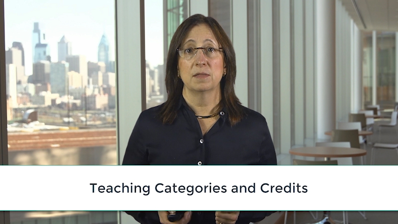 Lisa Bellini: Teaching Categories and Credits